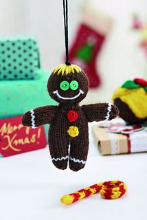 """Gingerbread Man ... Knitting pattern designed by Amanda Berry for """"Let's Knit"""" magazine, issue 72"""