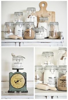 Canister Collage This site has labels for All Purpose Flour as well as self raising flour