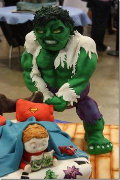 Detailed Hulk Cake