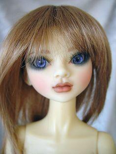 Jakzjewelz Eve, MSD, BJD, Resin ball jointed doll with wig sale ebay www.LittleCharmersDollDesigns.com