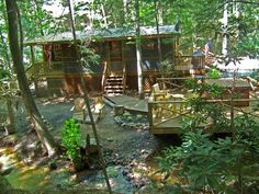 Creekside Serenity: Georgia Cabin Rentals   Sliding Rock Cabins®