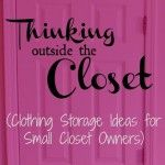 Storage ideas for small closets, credits : ourfifthhouse.com. What does a closet smell like to you?