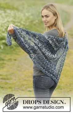 Seven Seas Shawl By DROPS Design - Free Crochet Pattern - (garnstudio)
