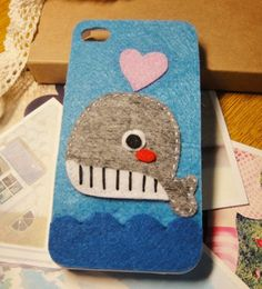 Cloth Love Heart Dolphin Whale Case for Iphone