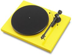 Pro-ject Debut Carbon in Gloss Yellow - $400