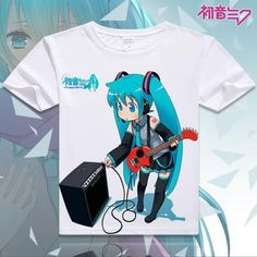 Hatsune Miku Short Sleeve Anime T-Shirt - OtakuForest.com
