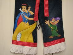 05fd434bee4f41 Custom Disney Clothing Hand Painted Princess Snow by Babykid35 Painted  Jeans