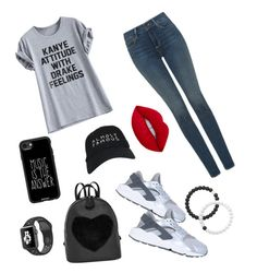 """""""Kanye attitude with Drake feelings"""" by jazzy-art ❤ liked on Polyvore featuring NYDJ, Casetify, Nasaseasons, NIKE and Lokai"""