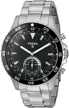 Men's Smartwatches - Fossil Q Crewmaster Gen 2 Hybrid Silver Stainless Steel Smartwatch *** Want additional info? Click on the image. (This is an Amazon affiliate link)