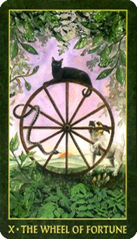 May 30 Tarot Card: Wheel of Fortune (Folklore deck) Ups and downs are healthy and natural -- ease up and go with the flow now