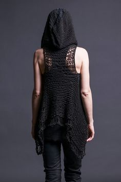 Ravelry: Nix Vest by Morph Knitwear Classic Elite Yarns, Crochet Vest Pattern, Crochet Patterns, Apocalyptic Fashion, Grunge Goth, Dark Fashion, Crochet Clothes, Boho, Kawaii