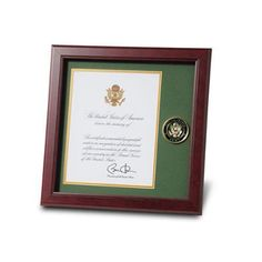 certificate and challenge coin frame