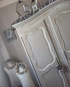 Shabby Chic Colors, Armoire, Doors, Facebook, Mirror, Furniture, Home Decor, Clothes Stand, Decoration Home