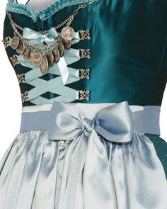 Silk & Pearls Dirndl short with silk apron   LODENFREY
