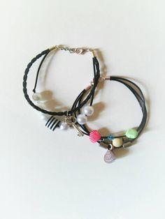 Check out this item in my Etsy shop https://www.etsy.com/listing/455739586/boho-black-summer-charm-bracelet-boho