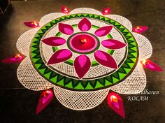 We have included beautiful diwali rangoli designs from shanthi's gallery. It's believed that rangoli designs started many centuries ago. Some refrences of rangoli designs are also available in our Rangoli Designs Peacock, Indian Rangoli Designs, Simple Rangoli Designs Images, Rangoli Designs Latest, Rangoli Patterns, Colorful Rangoli Designs, Rangoli Ideas, Beautiful Rangoli Designs, Lotus Rangoli