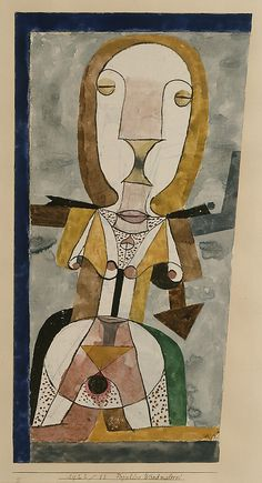 Paul Klee. Popular Wall-Painting (1922). Gouache and graphite on paper, bordered with gouache. The Berggruen Klee Collection, 1984.