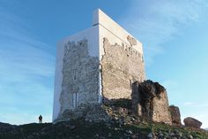 If it wasn't a restoration I'd quite like it.Matrera castle in Cádiz, southern Spain, joins list of Spanish artwork and building repairs causing hilarity and outrage Cadiz Spain, Andalusia, Medieval Tower, Medieval Castle, Chateau Medieval, Castle Pictures, Historical Landmarks, Adaptive Reuse, Dezeen