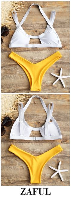 Up to 80% OFF! Cut Out High Leg Two Tone Bikini. #Zaful #Swimwear #Bikinis zaful,zaful outfits,zaful dresses,spring outfits,summer dresses,Valentine's Day,easter,super bowl,st patrick's day,cute,casual,fashion,style,bathing suit,swimsuits,one pieces,swimwear,bikini set,bikini,one piece swimwear,beach outfit,swimwear cover ups,high waisted swimsuit,tankini,high cut one piece swimsuit,high waisted swimsuit,swimwear modest,swimsuit modest,cover ups @zaful Extra 10% OFF Code:ZF2017