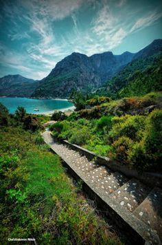 steps leading to pure beauty, Samos, Greece