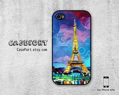 Eiffel Tower Oil Painting iPhone 4 Case iPhone 4s Case by CasePort, $7.99