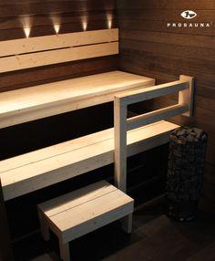Diy Furniture, Outdoor Furniture, Outdoor Decor, Basement Sauna, Sauna Design, Finnish Sauna, Saunas, Joko, Basement Renovations