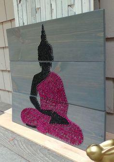 Buddha Silhouette Set of 3 boards 30 x 30 by NineRed on Etsy Buddha Canvas, Buddha Art, Mandala Art, Fourth Of July Crafts For Kids, Buddha Painting, String Art Patterns, Indian Art, Art Boards, Diy Art