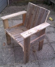 Little child chair in outdoor furniture with wood pallet Outdoor Chair