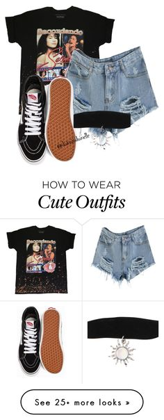"""Cute Outfit"" by diavianshanelle on Polyvore featuring Vans, tumblr and grunge"