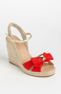No sinking into the ground! yay wedges! kate spade new york 'carmelita' wedge sandal