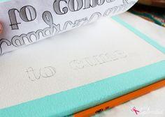 DIY Lettered Canvas Sign