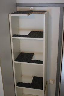 Ikea hack Billy cat climbing shelf (site is in Finnish)