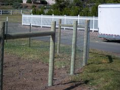 2x4 Non-climb wire fence with T-posts and Lodge poles