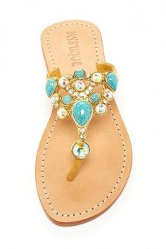 Mystique Sandals is the premiere women's jeweled sandals brand. A Los Angeles based company that designs, manufactures, & distributes men's and women's sandals for fashion forward people. Cute Sandals, Cute Shoes, Me Too Shoes, Shoes Sandals, Summer Sandals, Rhinestone Sandals, Beaded Sandals, Mystique Sandals, Jeweled Sandals