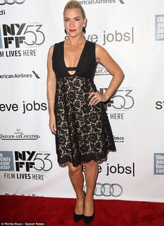 Bigger than the Titanic: Kate Winslet showcased her impressive bust at the New York Film F...