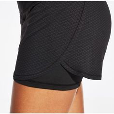 You can finally have a short that keeps you looking cool and feeling great with the CALIA™ by Carrie Underwood Women's Two-In-One Mesh Shorts. A super-lightweight fabrication with mesh pieces helps keep you cool with every move you make, while performance elements deliver refreshing dryness. Complete with stretchy, compression undershorts for better mobility, the CALIA™ Two-In-One Mesh Shorts help you double up on style and comfort.