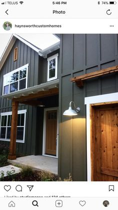Local Architects Near Me find an architect for extension - Haus Ideen House Paint Exterior, Exterior House Colors, Grey Siding House, Siding Colors For Houses, Outdoor House Colors, Vinyl Siding Colors, Green Siding, Barn Siding, Home Renovation