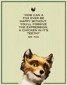 Fantastic Mr. Fox- Mr. fox- 11x14- wes anderson, film, movie, funny, humor, retro, typography. $12.00, via Etsy.