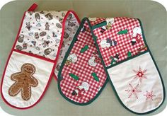 Free Designs & Projects :: Double Ended Oven Mitt - Embroidery Garden In the Hoop Machine Embroidery Designs