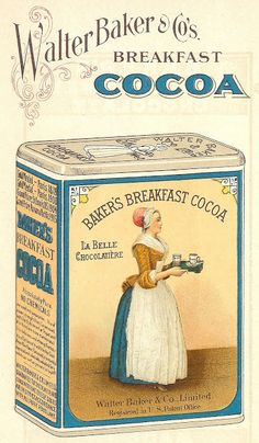 Free Printable Antique Graphics - 1923 Baker's Chocolate and Cocoa Images