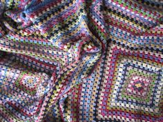 giant granny squares crochet blanket