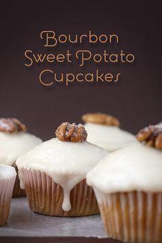 Bourbon Sweet Potato Cupcakes by Bakerella, via Flickr