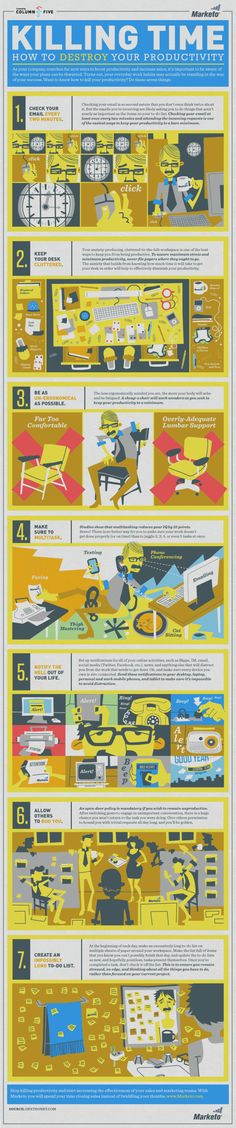 Killing Time: How to Destroy Your Productivity | NerdGraph Infographics