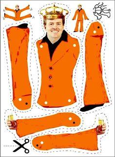 Koningsdag knutsel ideetjes | Meer ideeën: http://www.jouwwoonidee.nl/koninginnedag-knutselen/