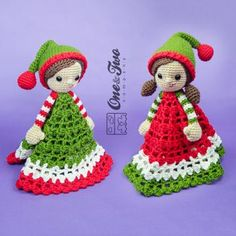 Jingle and Belle Santas Helper Lovey crochet pattern by One and two company