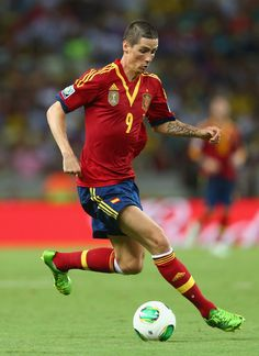 Fernando Torres with Spain national team.