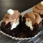 Marshmallow Stuffed Chocolate Cupcakes