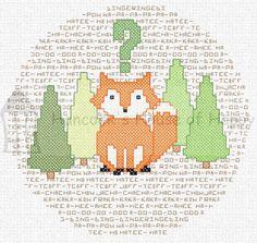Fox cross stitch Free Cross Stitch Charts, Just Cross Stitch, Cross Stitch Animals, Modern Cross Stitch Patterns, Cross Stitch Designs, Cross Stitching, Cross Stitch Embroidery, Fox Crafts, Crochet Cross