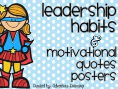 Superhero themed motivational posters that assist in developing character traits in the classroom. 17 posters to choose from! Superhero Bulletin Boards, Superhero Classroom Theme, Classroom Behavior, Classroom Themes, Classroom Organization, Seven Habits, Teacher Boards, Leader In Me, Beginning Of The School Year