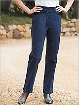 Slimtacular® Diamond Denim™ Pull-On Pants | Drapers